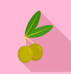 jewish olive icon flat style vector image