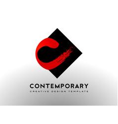 Letter c logo brush art gallery concept vector