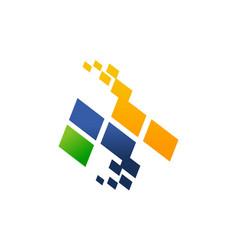 letter m modern vector image