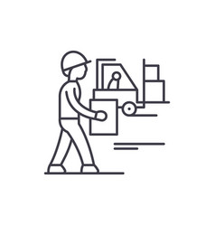 loading goods line icon concept loading goods vector image