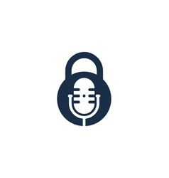 lock podcast logo icon design vector image