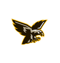 Logo a flying hawk a dangerous predator vector