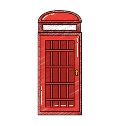 london telephone booth public traditional vector image