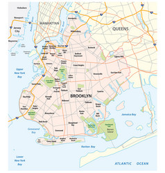 map brooklyn new york city vector image