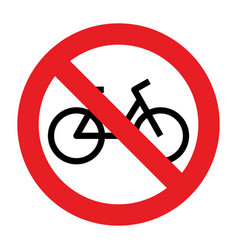 no bike allowed sign vector image