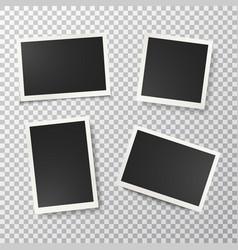 photo frames set on transparent background vector image