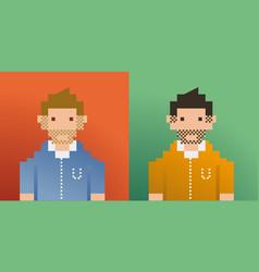 Pixel men vector