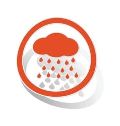 Rain sign sticker orange vector
