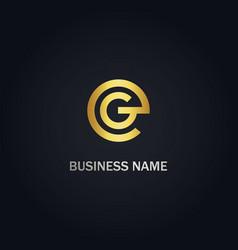 round g sign logo vector image