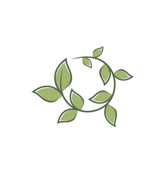 Round leaf ornament vector