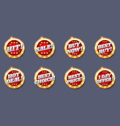 sale badge tag label sticker vector image