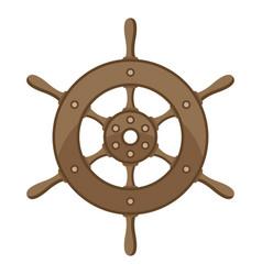 ship steering wheel nautical vector image