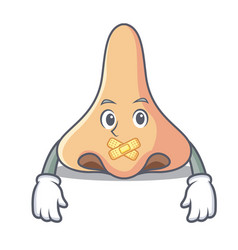 Silent nose mascot cartoon style vector
