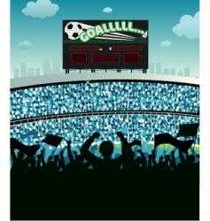 soccer stadium vector image