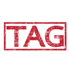 stamp text tag vector image