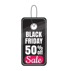 Tag black friday sale discount icon cartoon style vector