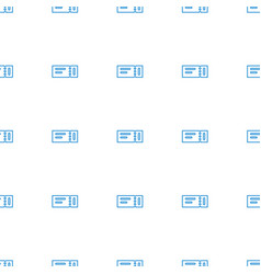 ticket icon pattern seamless white background vector image