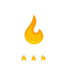 warm graphic icon of burning flame vector image
