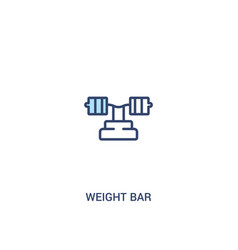 Weight bar concept 2 colored icon simple line vector