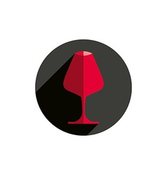 Winery theme decorative stylish wine goblet Wine vector image
