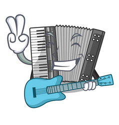 with guitar miniature accrodion in the shape vector image