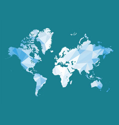 world map in polygon style vector image