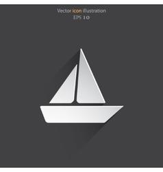 yacht web icon vector image