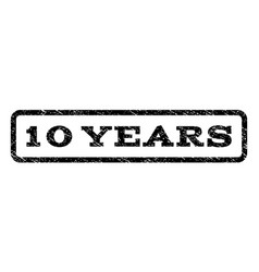 10 years watermark stamp vector image