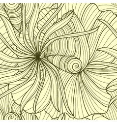 abstract flowers vector image