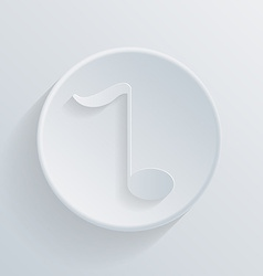 circle icon with a shadow musical note vector image