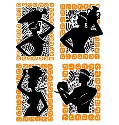 Classical Greek or Roman figures vector image