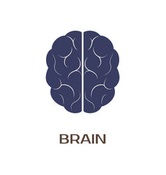 logotype of brain vector image
