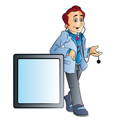 male doctor vector image