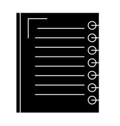Note book school icon vector