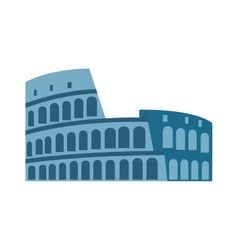 Amphitheater ruin an ancient architecture history vector image
