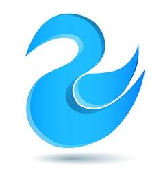 Blue twitter bird logo vector image