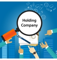 Holding Company Types of business corporation vector image vector image
