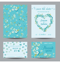Invitation or Greeting Card Set vector image vector image