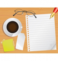 page and desk vector image vector image