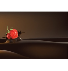 Strawberry in liquid vector image vector image