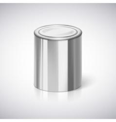 Tin closeup with reflection vector image