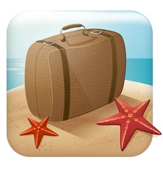 App Travel Icon With Suitcase vector image vector image