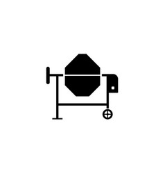 concrete mixer icon vector image vector image