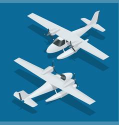 Isometric plane hydro aircraft air transportation vector
