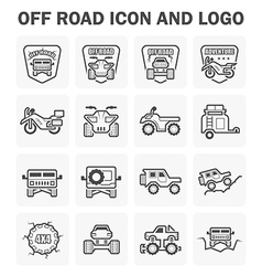 Off road icon vector image vector image