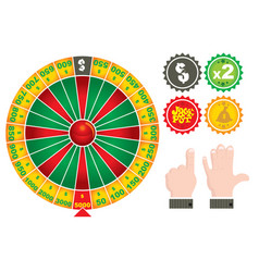 roulette casino gamex9 vector image vector image