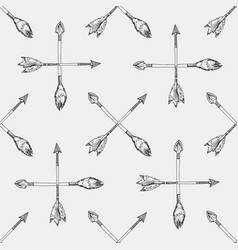 sketches arrows seamless pattern vector image