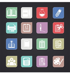 Tools learning icon vector