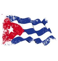 Cuba Flag Grunge vector image vector image
