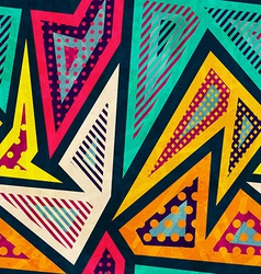 hipster geometric seamless pattern vector image vector image